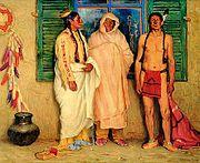 Joseph Henry Sharp's Three Taos Indians
