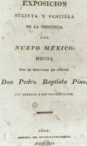 Title page of Pedro Bautista Pino's brief description of New Mexico, Cadiz, 1812. Carroll and Haggard, Three New Mexico Chronicles