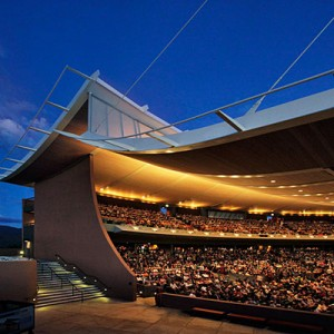 Top 10 outdoor summer fests; Jun'12; Santa Fe Opera, open-air exterior, NM